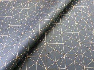 Tissue Paper - Geometric - Gold on Black - (Qty 25)