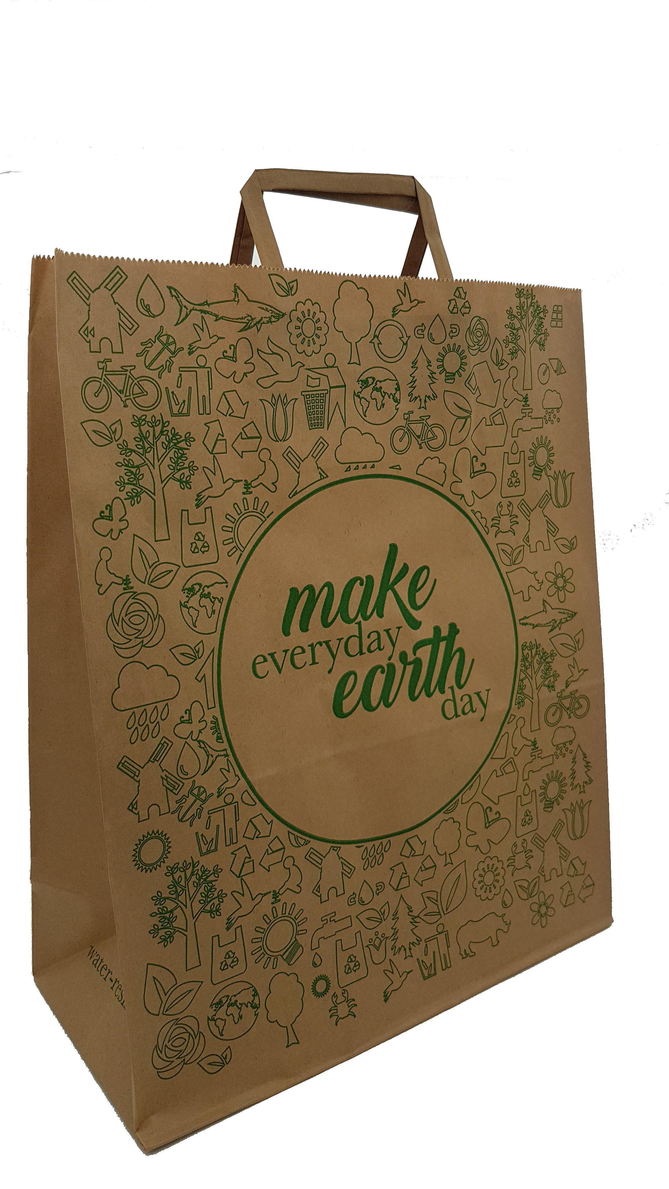 Paper Earth Carrier Bag (Qty 25) SOCO2EB