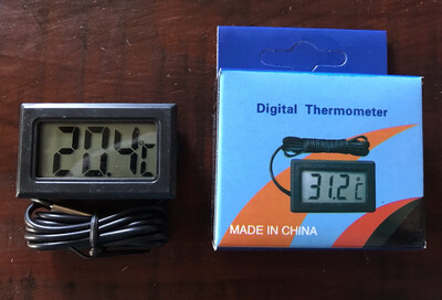 Digital Thermometer With Long Lead And Sensor