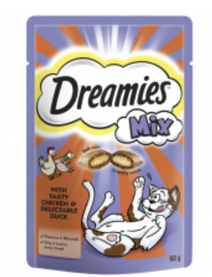 Dreamies Chicken And Duck 60g