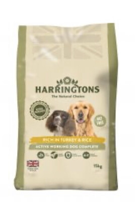 Harrington's Dog Active Turkey With Rice  Adult 15kg In Stock RRP £30.99
