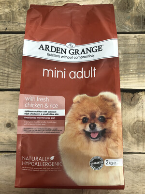 Arden Grange Mini Adult With Fresh Chicken And Rice 2kg