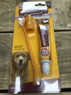 Arm & Hammer Enzymatic Dog Toothpaste And Toothbrush Kit RRP £9.89