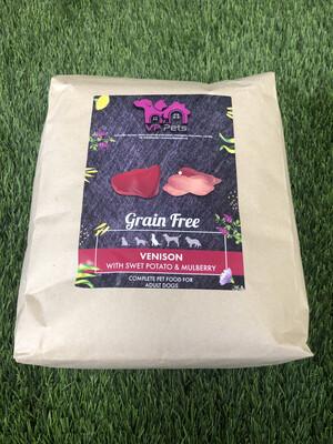 VP Grain Free Dog Food - Venison, Sweet Potato & Mulberry 2kg
