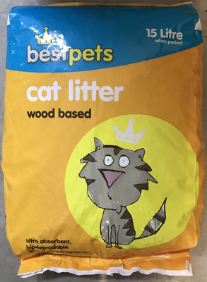 Best Pets Wood Pellet Cat Litter 15l