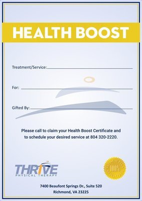 Health Boost Gift Certificate-Silver