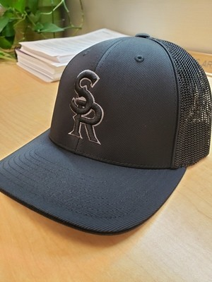 SRLL Custom Embroidered Mesh Cap - Black/Black