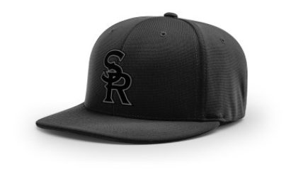 SRLL Custom Embroidered Fitted Cap - Black - L/XL