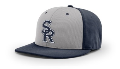 SRLL Custom Embroidered Fitted Cap - Navy/Grey - S/M