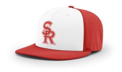 SRLL Custom Embroidered Fitted Cap - Red/White - S/M