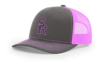 SRLL Custom Embroidered Trucker Cap - Pink/Grey