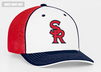 SRLL Custom Embroidered Fitted Mesh Cap - S/M