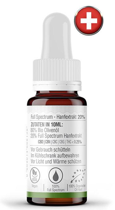 """Osterspecial"" 20% Hanfextrakt + 2x CBD-Hanftee"