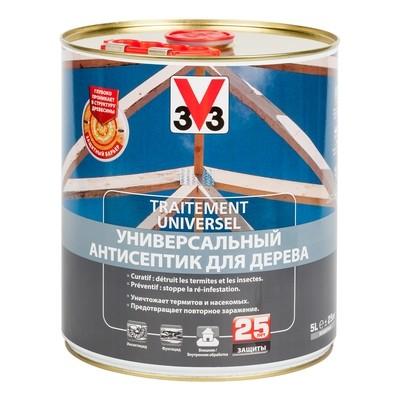 Универсальный антисептик для защиты дерева  V33 ТРИТМЕНТ 5л