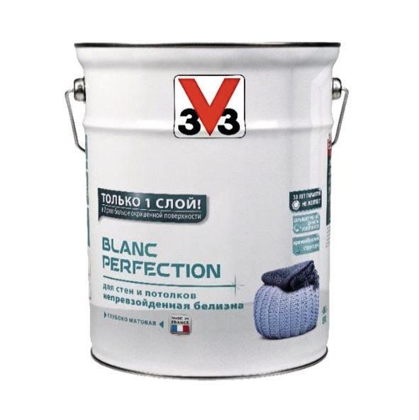 Глубокоматовая латексная краска для стен и потолков V33 BLANC PERFECTION