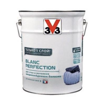 Глубокоматовая латексная краска для стен и потолков V33 BLANC PERFECTION 2,5 л