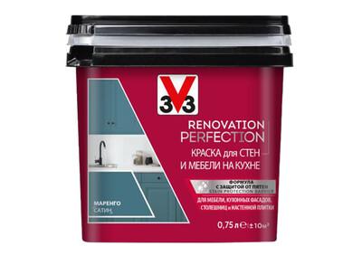 RENOVATION PERFECTION: Краска для стен и мебели на кухне V33 (Decolab) 0,75 л