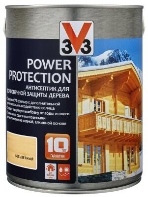 АНТИСЕПТИК ДЛЯ ДЕРЕВА V33 POWER PROTECTION (ранее назывался Лазурь BOIS) 0,9 л