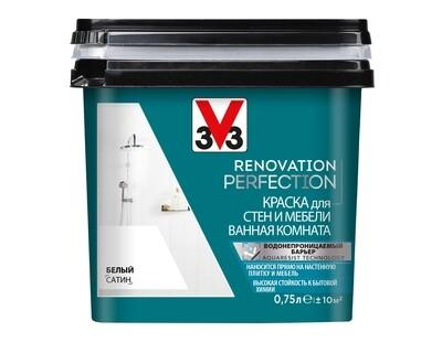 RENOVATION PERFECTION: Краска для стен и мебели в ванной комнате V33 0,75 л