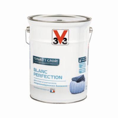 Глубокоматовая латексная краска для стен и потолков V33 BLANC PERFECTION 6 л