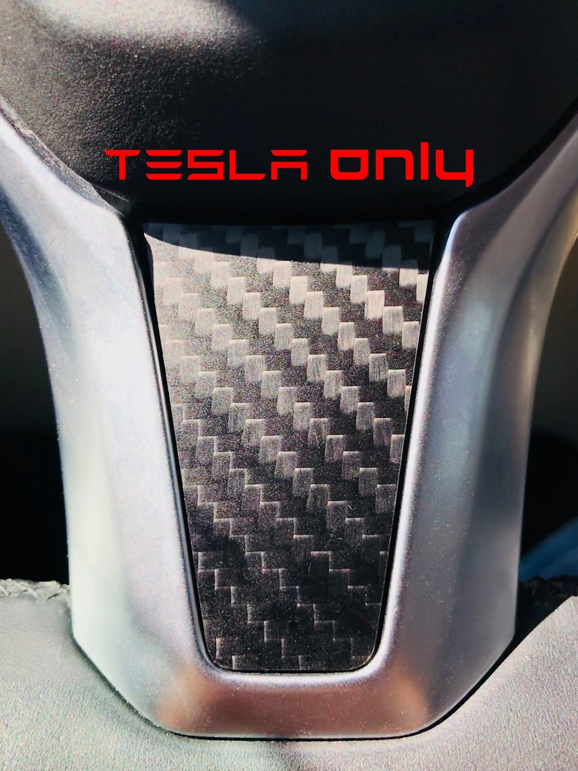 Tesla Model S | X - Carbon Fiber Steering Wheel TRIM