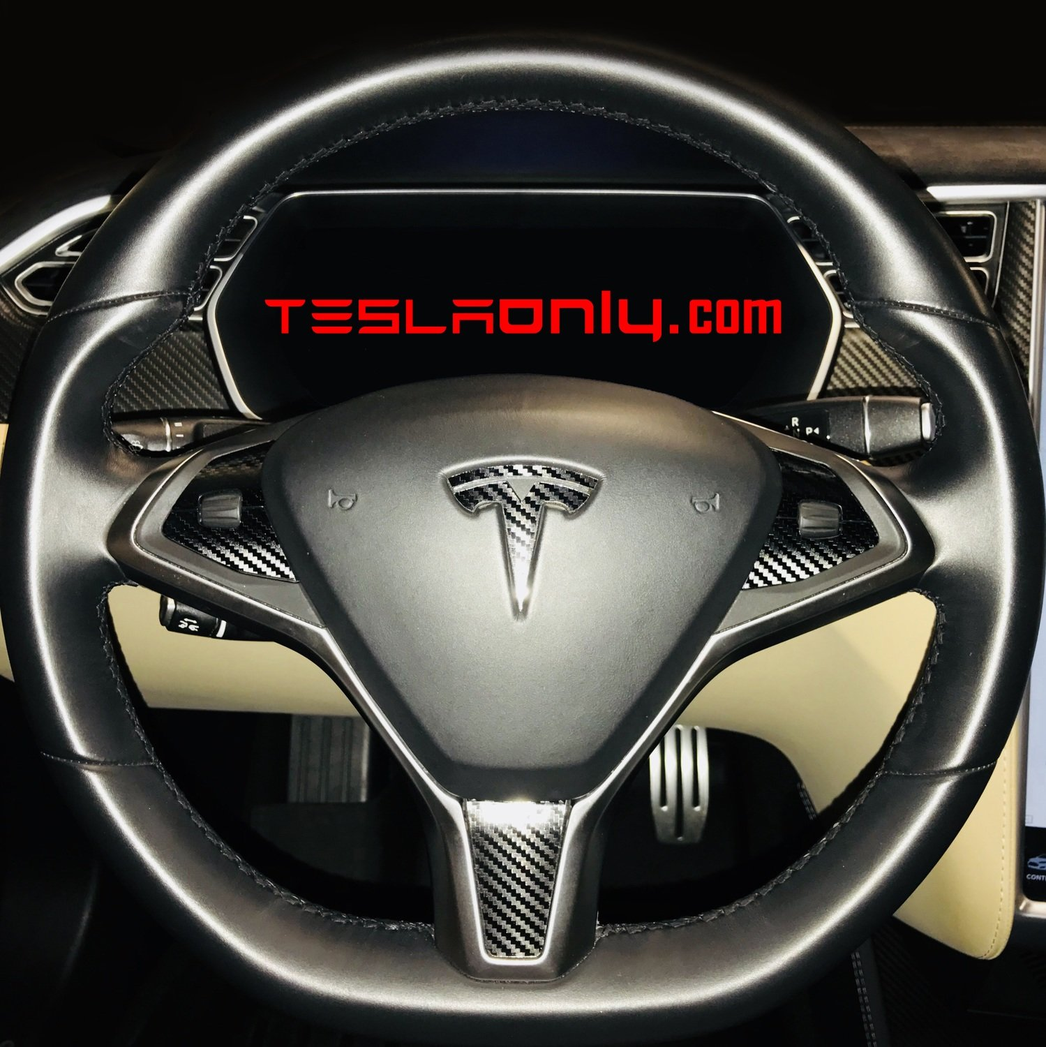 Tesla Model S | X Steering Wheel Trim Decal SET
