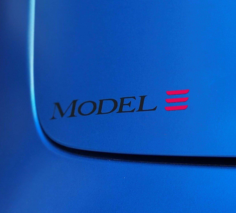 Tesla Model 3 Custom Badge Decal