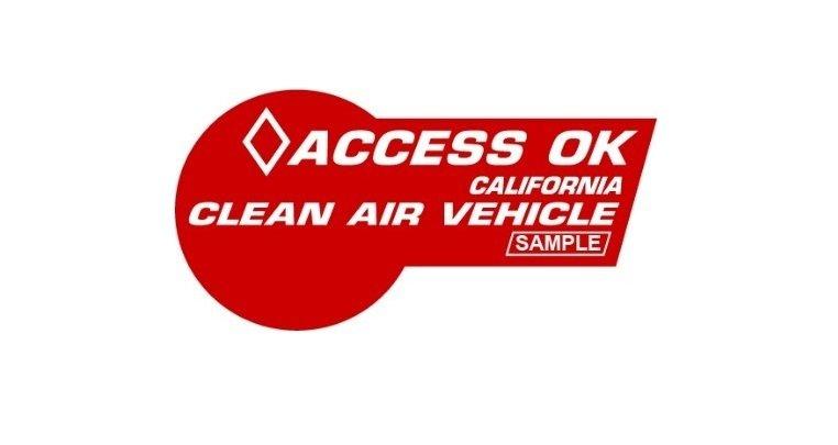 CA CAV HOV Decal Base - California Clean Air Vehicle High Occupancy Vehicle