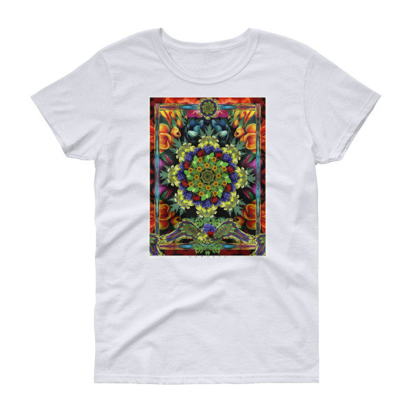 Bright Colors Flowers Mandala Women's short sleeve t-shirt