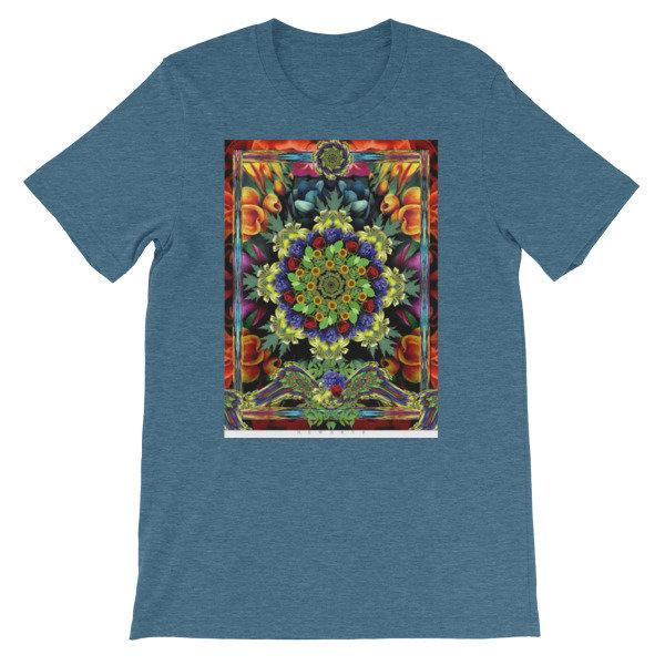Mandala of Flowers Short-Sleeve Unisex T-Shirt