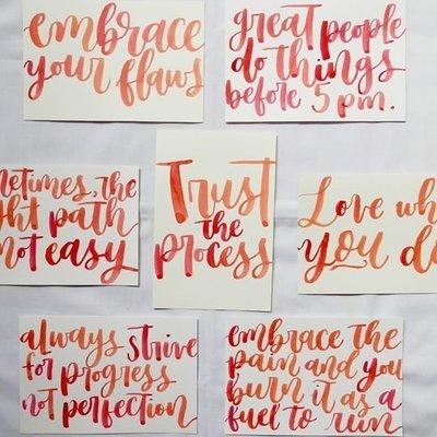 Handwritten Inspirational/Mantra Cards