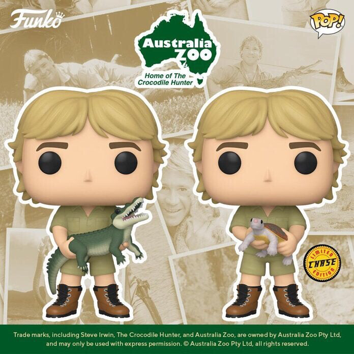 POP! TV: CROCODILE HUNTER Common/Chase Set PRE ORDER