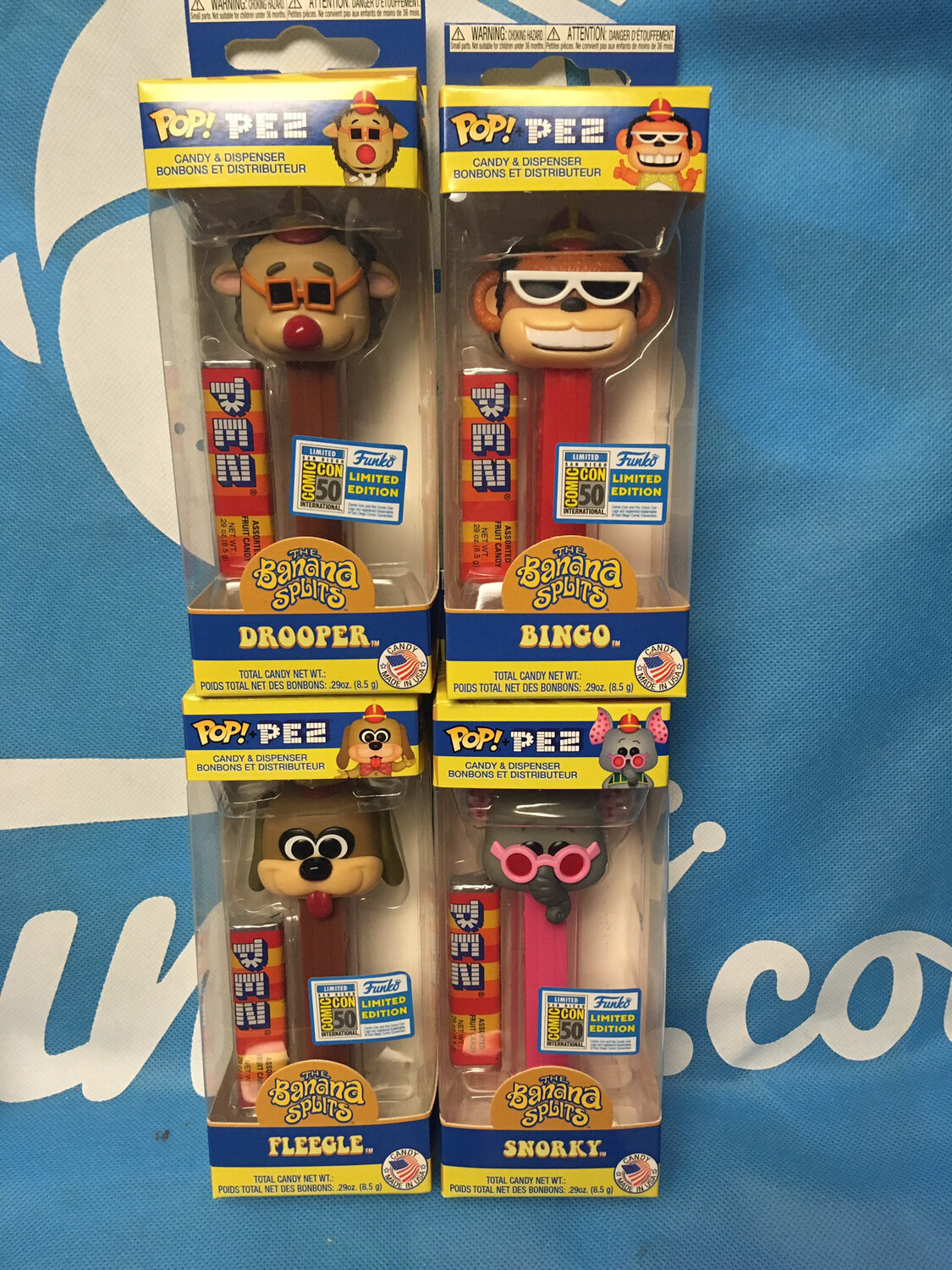 Banana Splits SDCC Pop Pez Set Of 4