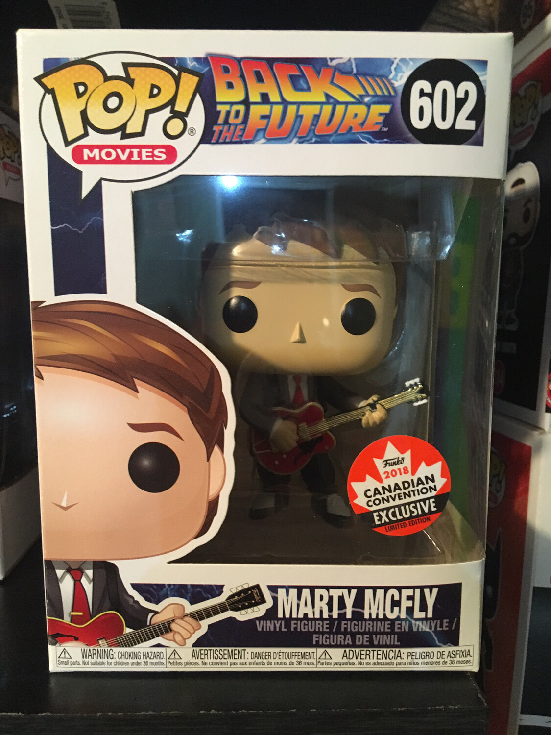 Canadian Con Marty McFly Funko Pop