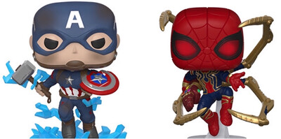 Avengers Endgame Captain America And Iron Spider Funko Set!