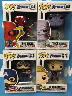 Avengers Endgame Funko Pop Set