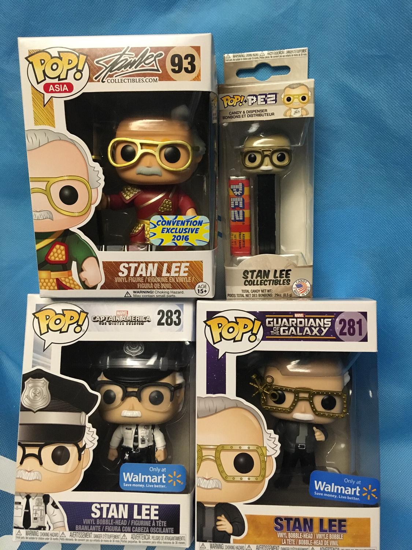 Stan Lee Set Of 3 with Bonus Pop Pez
