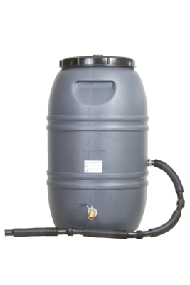 Rain Barrel Gray with internal overflow