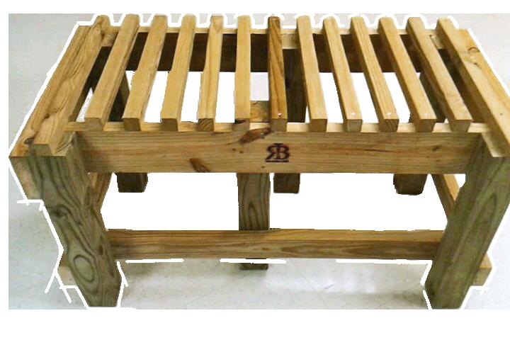 Double Rain Barrel Stand 18 inch Tall