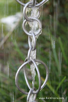 Rain chain - Circles ™ stainless steel  #Y-9004SS