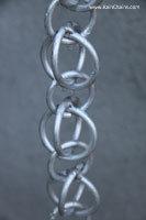 Rain chain - Double Loops™ aluminum  #3130-AL