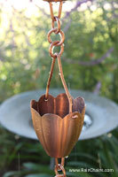 Rain chain - Kumo™ copper plate on stainless #Y-9001