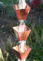 Rain Chain - 'Medium' Square Cups #3121-M