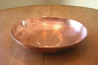 Hand Hammered Copper Dish #3145