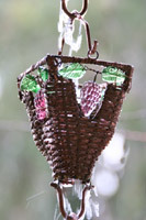 Rain chain - Basket & Glass Cups ™ copper  #RC-54