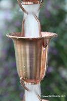 Rain chain - Flared Cups copper #7227