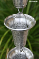 Rain chain - Flared Cups aluminum cup #7228
