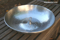 Hand Hammered Aluminum Dish with Attachment Loop  #3145-AL-LOOP