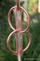 Rain chain - Zen Loops™ copper  #6886 (U.S. Patent No. D519,600S)