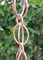 Rain chain - Oval Loop copper  #3138